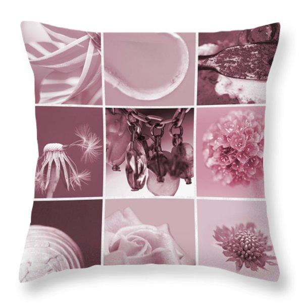 Rose Mosaic Throw Pillow by Lisa Knechtel