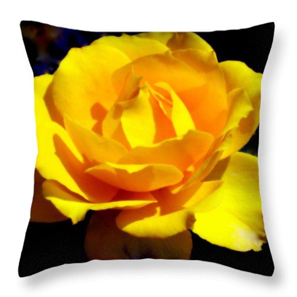 ROSE of SUN Throw Pillow by KAREN WILES