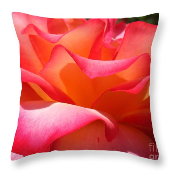 Rose Petals Throw Pillow by Patti Whitten
