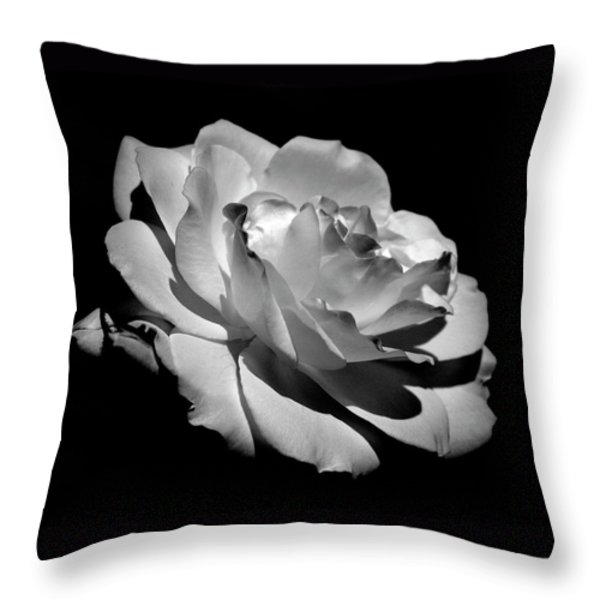 Rose Throw Pillow by Rona Black