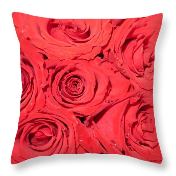 Rose Swirls Throw Pillow by Sonali Gangane