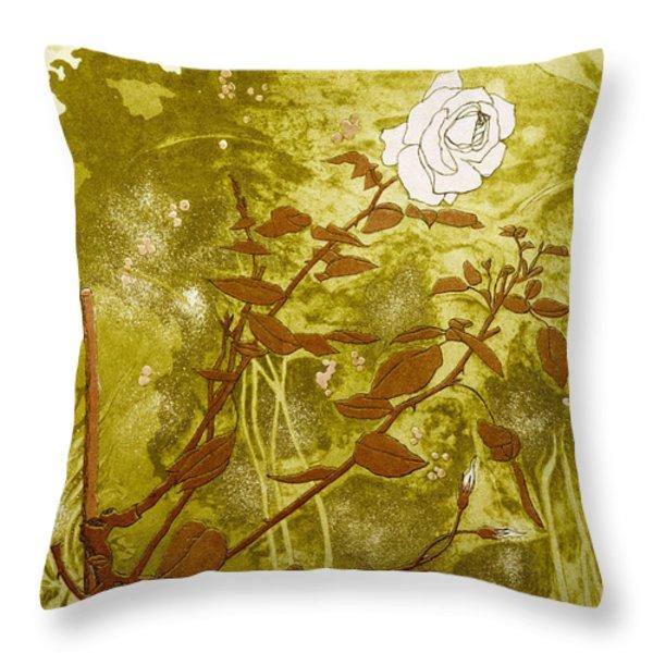 Rose Throw Pillow by Valerie Daniel