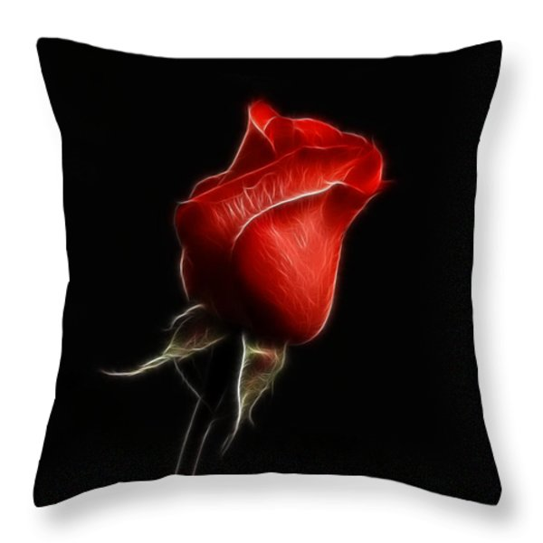 Rosebud Throw Pillow by Sandy Keeton