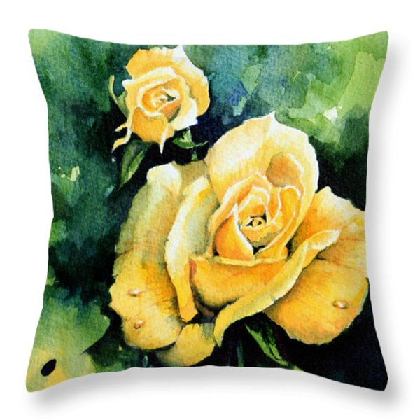 Roses 5 Throw Pillow by Hanne Lore Koehler