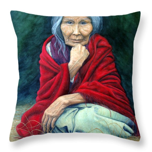 Rosie Remembered Throw Pillow by Joey Nash