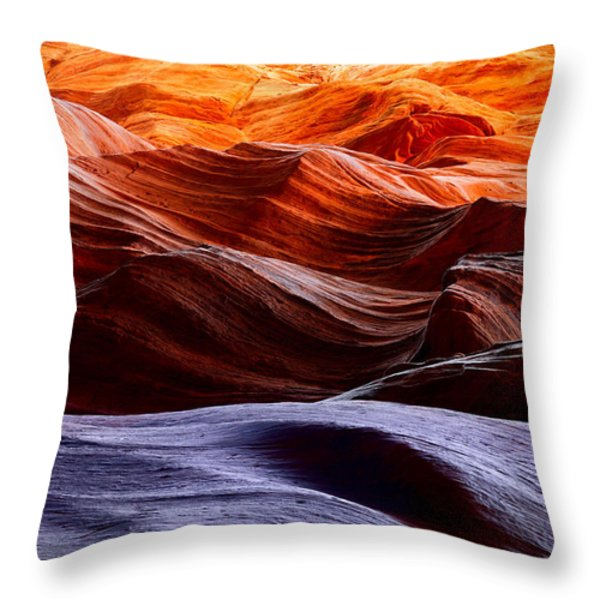 Rough Sea Throw Pillow by Inge Johnsson