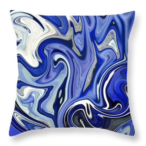 Rough Seas Throw Pillow by Chris Butler
