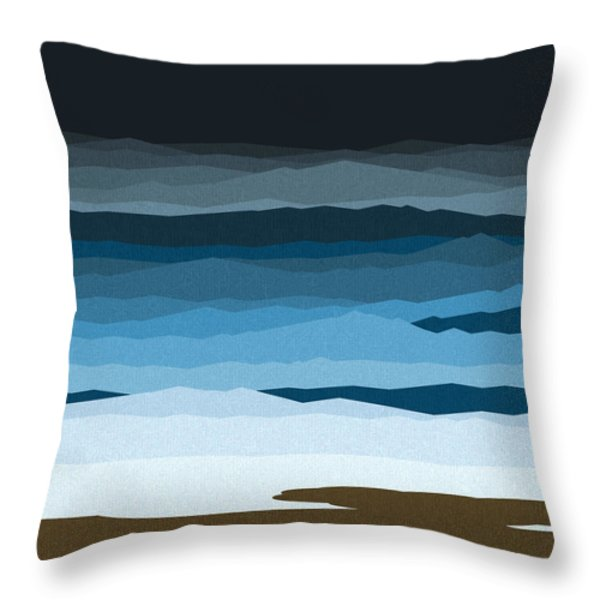 Rough Seas Throw Pillow by Val Arie
