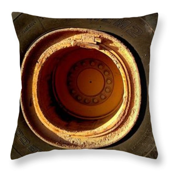 round and round Throw Pillow by Marlene Burns