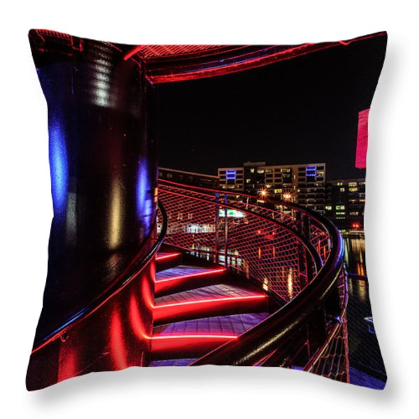 Round Staircase Throw Pillow by Randy Scherkenbach