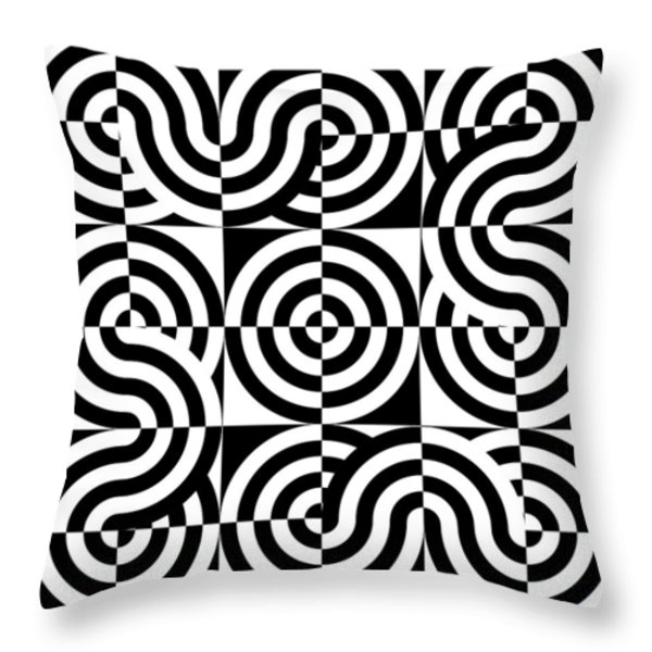 Round The Bend I Throw Pillow by Mike McGlothlen