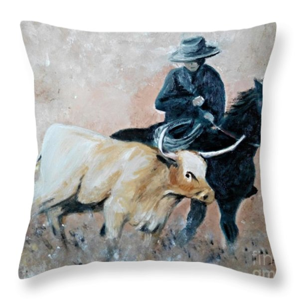 Roundup Throw Pillow by Isabella F Abbie Shores LstAngel Arts