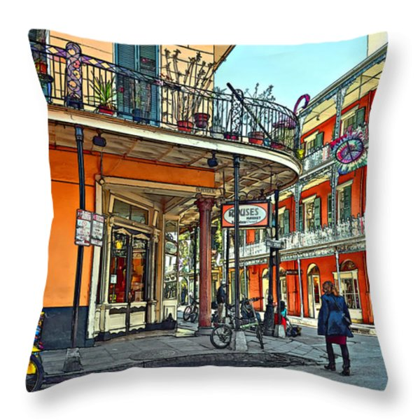 Rouses Market Painted Throw Pillow by Steve Harrington