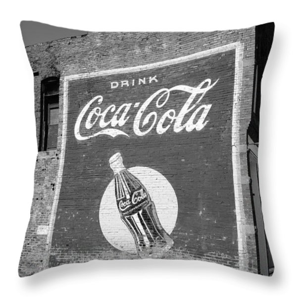 Route 66 - Coca Cola Ghost Mural Throw Pillow by Frank Romeo