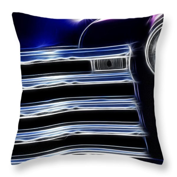 Route 66 Well Grilled Throw Pillow by Bob Christopher