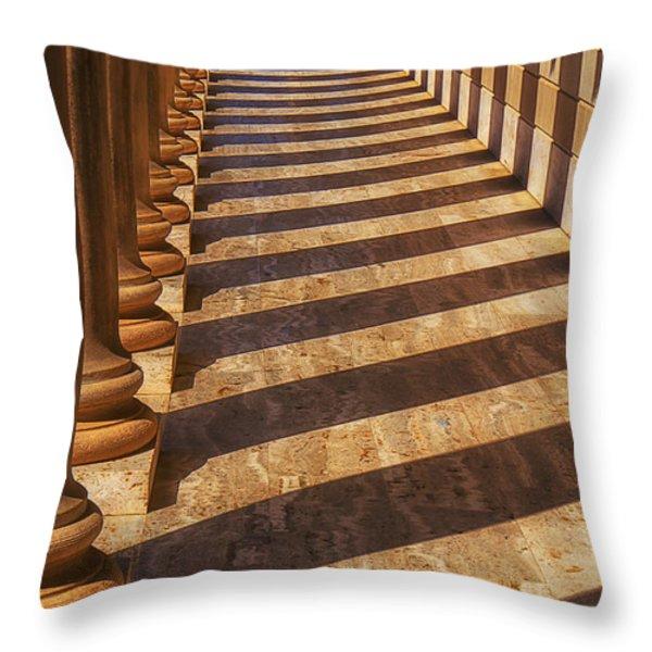 Row Of Pillars Throw Pillow by Garry Gay