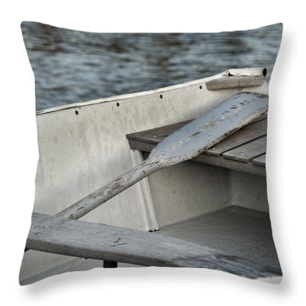 Rowboat Throw Pillow by Charles Harden