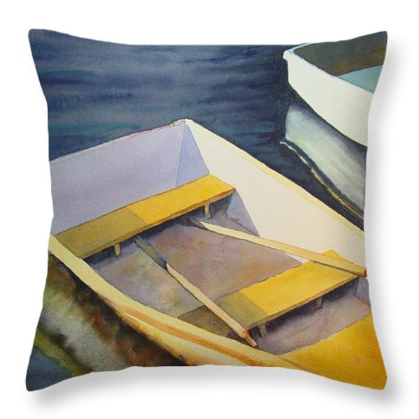 Rowboats Throw Pillow by Sarah Buell  Dowling