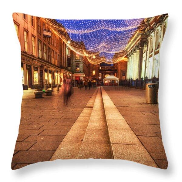 Royal Exchange Square  Throw Pillow by John Farnan
