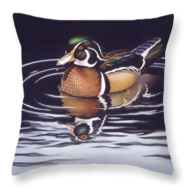 Royal Reflections Throw Pillow by Richard De Wolfe