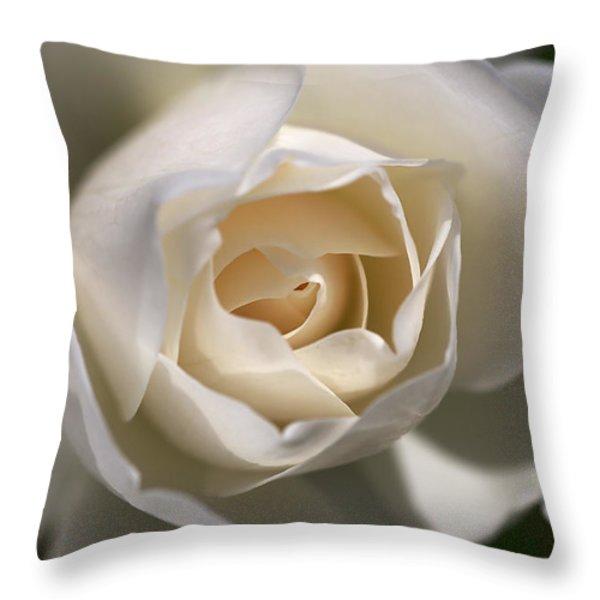 Royal White Throw Pillow by Joy Watson