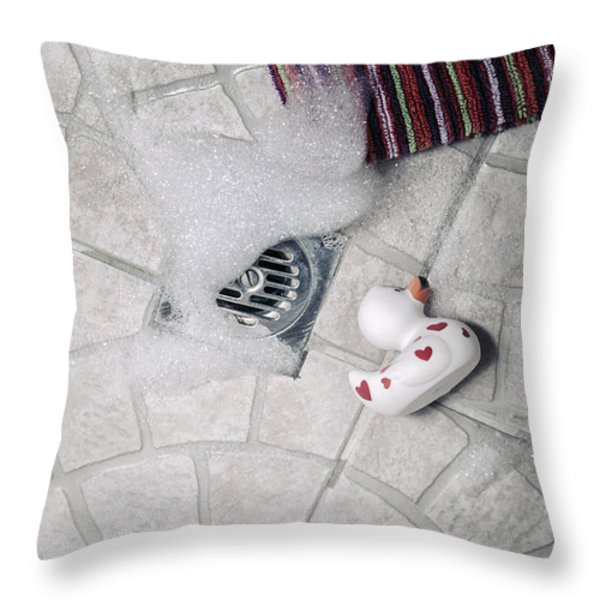 Rubber Duck Throw Pillow by Joana Kruse
