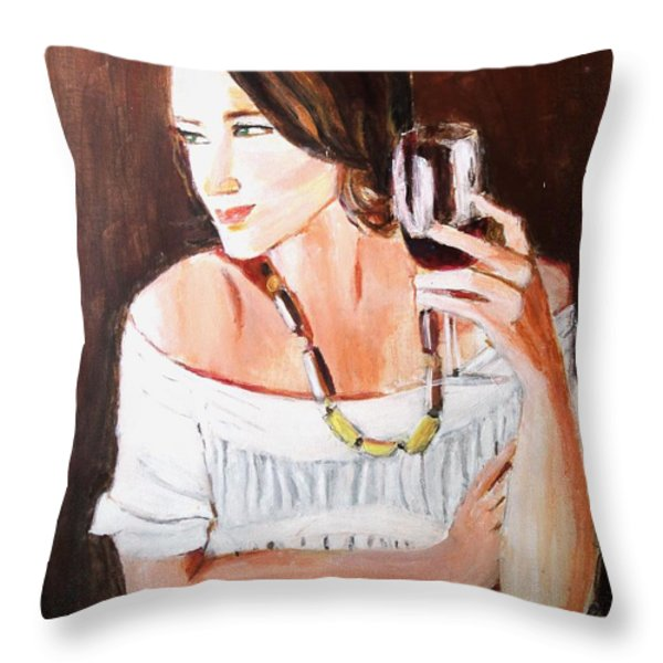 Ruby Throw Pillow by Judy Kay