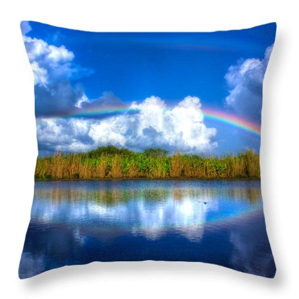 Rue's Rainbow Throw Pillow by Mark Andrew Thomas