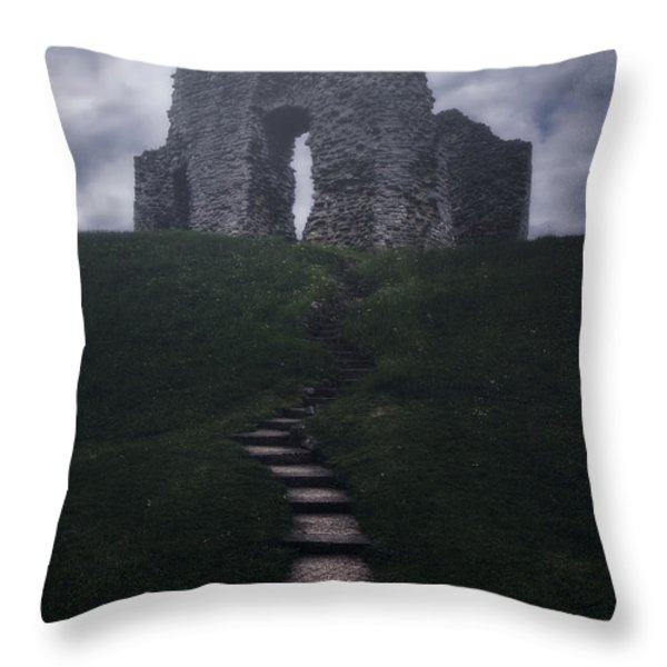 Ruin Of Castle Throw Pillow by Joana Kruse