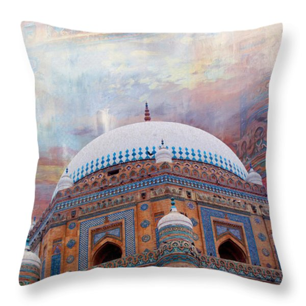 Rukh e Alam Throw Pillow by Catf