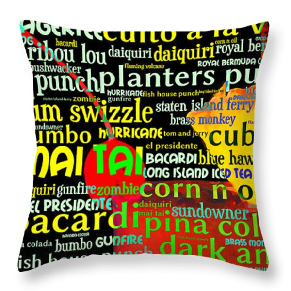 Rum Not Just Your Pirates Drink Anymore 20130627 long v1 Throw Pillow by Wingsdomain Art and Photography