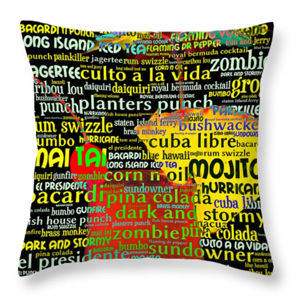 Rum Not Just Your Pirates Drink Anymore 20130627 Throw Pillow by Wingsdomain Art and Photography