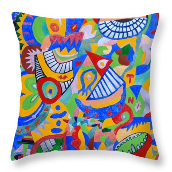 Rumor By Taikan Throw Pillow by Taikan Nishimoto
