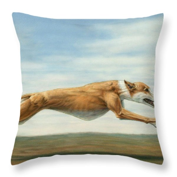 Running Free Throw Pillow by James W Johnson