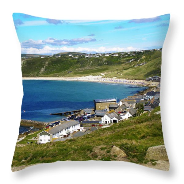 Running To The Beach Throw Pillow by Terri  Waters