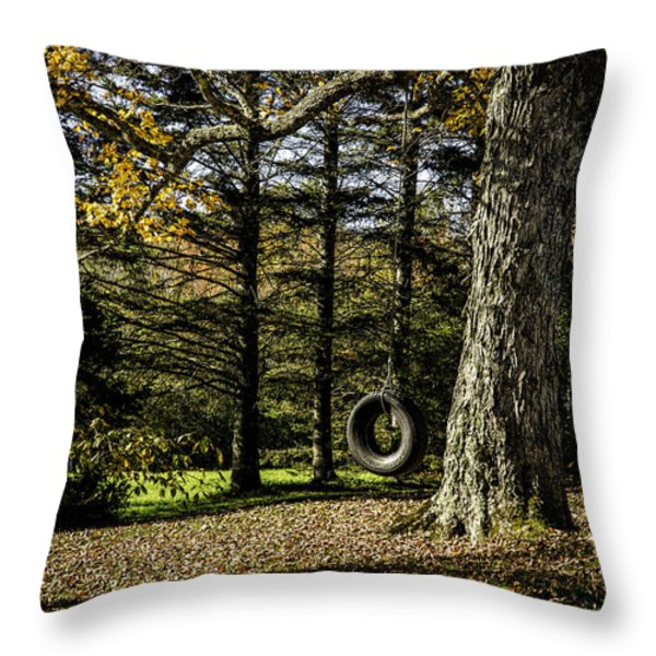 Rural America Throw Pillow by Janet Fikar