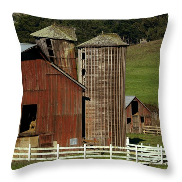 Rural Barn Throw Pillow by Bill Gallagher