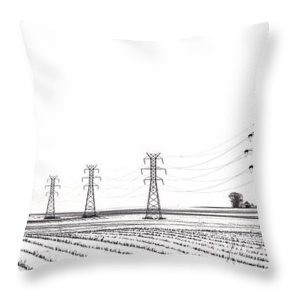 Rural Power Throw Pillow by Steve Gadomski
