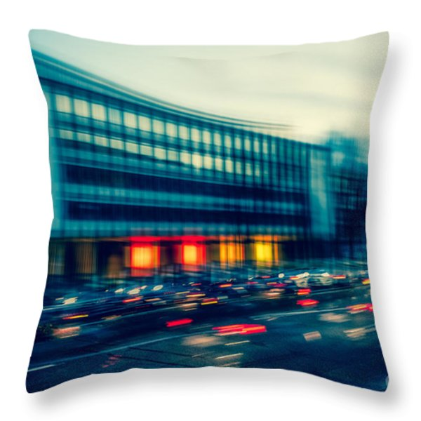 Rush Hour - Vintage Throw Pillow by Hannes Cmarits
