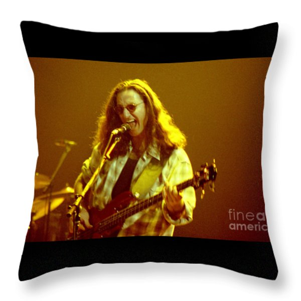 Rush92-geddy-a004 Throw Pillow by Timothy Bischoff