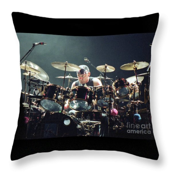 RUSH92-Neil-A010 Throw Pillow by Timothy Bischoff