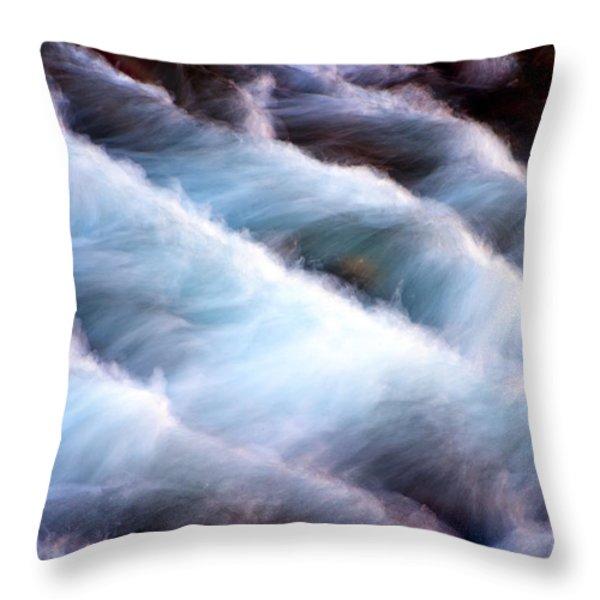 Rushing Throw Pillow by Adam Romanowicz