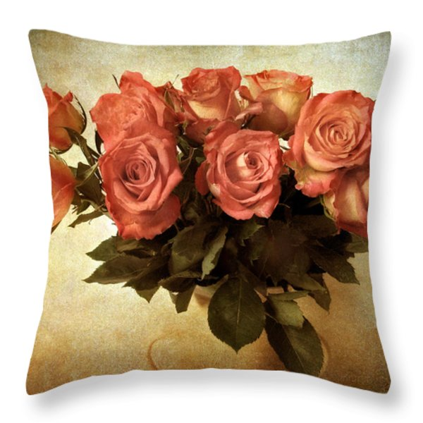 Russet Rose Throw Pillow by Jessica Jenney