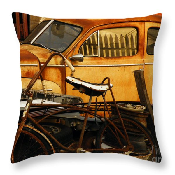 Rust Race Throw Pillow by Joe Jake Pratt