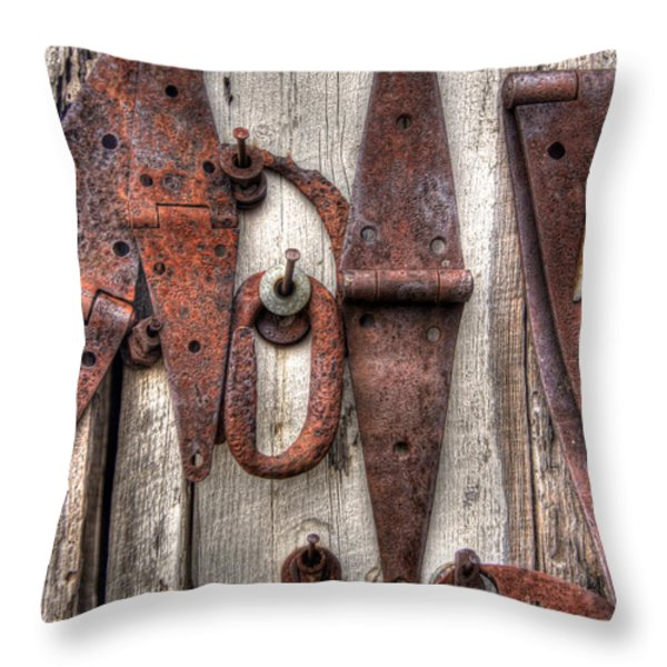 Rusted Past Throw Pillow by Benanne Stiens