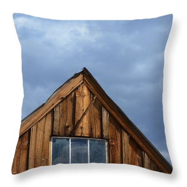 Rustic Cabin Window Throw Pillow by Jill Battaglia