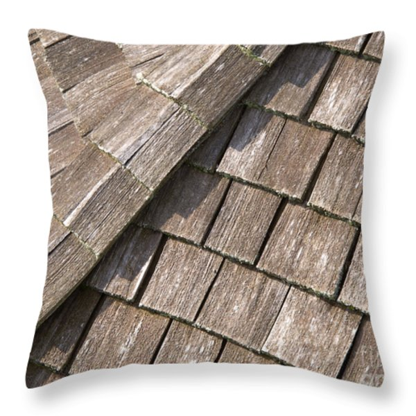 Rustic Rooftop Throw Pillow by Ann Horn