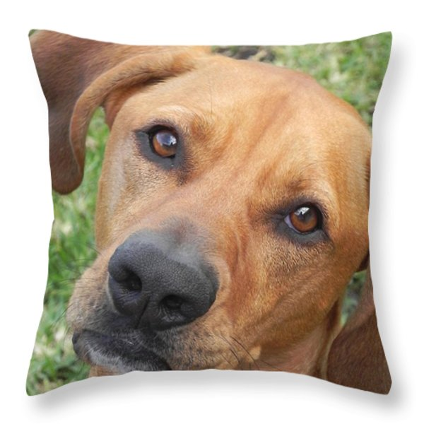 Rusty Girl Throw Pillow by Chrisann Ellis