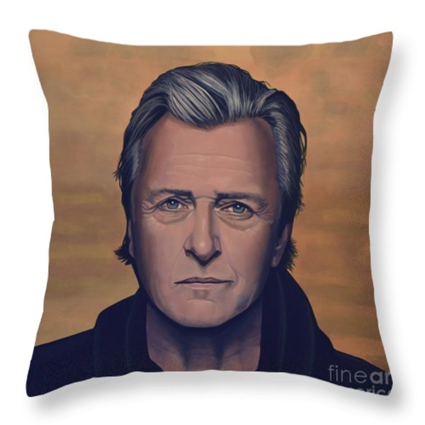 Rutger Hauer Throw Pillow by Paul  Meijering