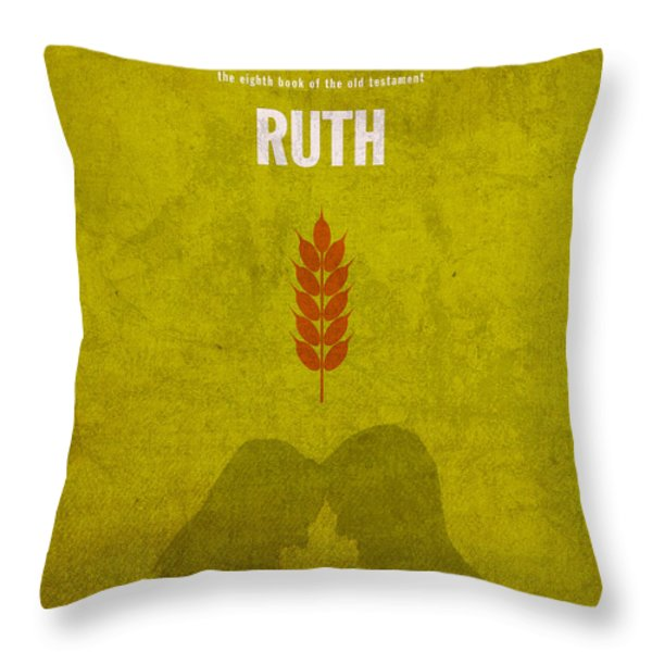 Ruth Books of the Bible Series Old Testament Minimal Poster Art Number 8 Throw Pillow by Design Turnpike